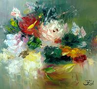 Schilderijen bloemen Impressionisme John Frel Kunstschilder Amersfoort