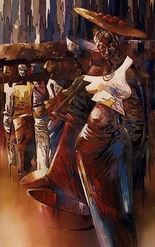 Schilderij African Walk, schilderijenwereld.nl