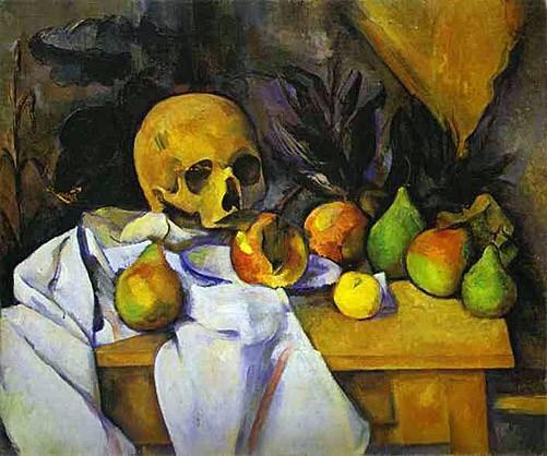 Doodshoofd en fruit