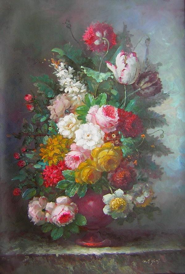 Populair schilderij_bloemen_in_vaas.jpg #CS83