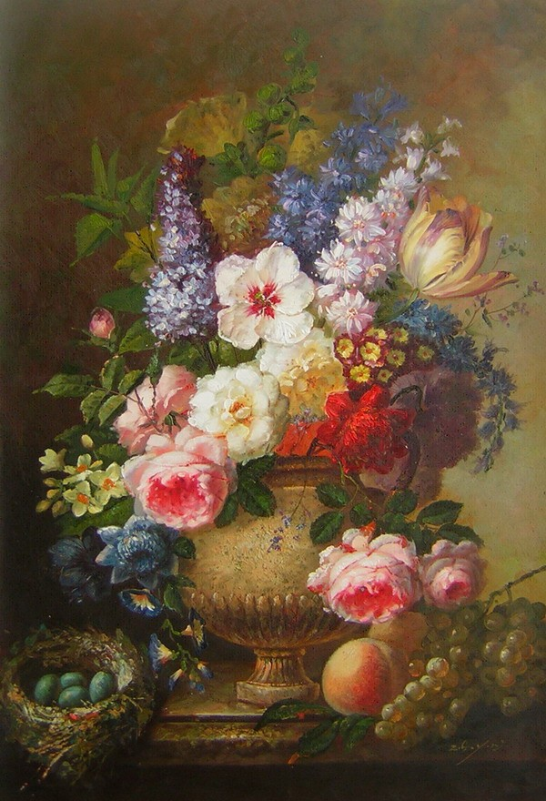 Extreem schilderij_bloemen_met_fruit.jpg #DV07