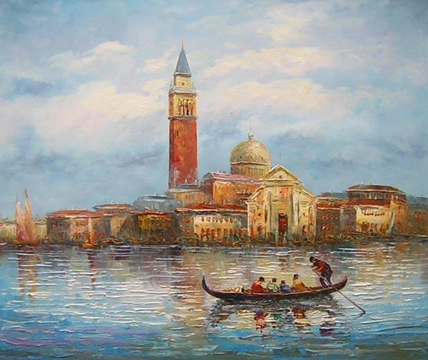 Schilderij veneti aanzicht - Associatie van kleur e geen schilderij ...