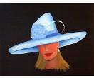 Schilderij Blauwe Hoed, schilderijenwereld.nl