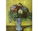 Bloemen blauwe vaas