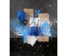 Schilderij, Blauw, grijs en zwart