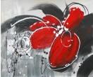 Bloem rood en grijs