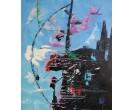 Schilderij Cityflowers