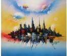 Schilderij Fantasia City