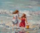 Meisjes aan zee