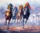Paarden met ruiters