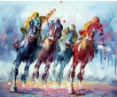 Schilderij Polospel