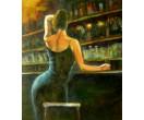 Vrouw aan de bar