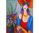 Vrouw aan tafeltje
