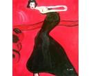 Vrouw in het zwart