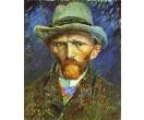 Schilderij Van Gogh Zelfportret met vilthoed schilderijenwereld.nl
